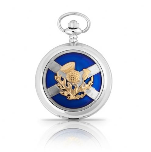 Saltire and Thistle Mechanical Pocket Watch